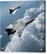 Raf Tsr.2 Advanced Bomber With Lightning Interceptor Acrylic Print