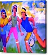 Rafa Tennis At The French Wimbleton And U.s. Open Acrylic Print by Stanley Morganstein