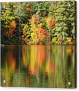 Raft On Autumn Pond Acrylic Print
