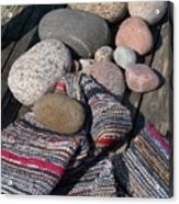 Rag Rugs With Stones And The Dock 3 Acrylic Print