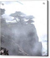 Ragged Shore In Fog Acrylic Print