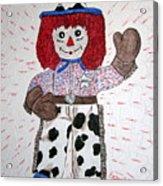 Raggedy Andy Cowboy Acrylic Print