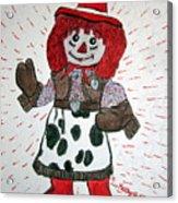 Raggedy Ann Cowgirl Acrylic Print