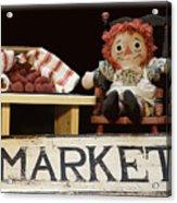 Raggedy Ann Selling Raspberries Acrylic Print