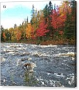 Raging Michigamme River Acrylic Print