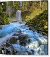 Raging Sahalie Falls Acrylic Print