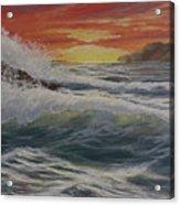 Raging Surf Acrylic Print
