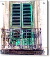 Ragusa Window Acrylic Print
