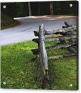 Rail Fence Acrylic Print