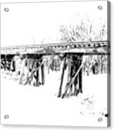 Rail Road Bridge In Winter 1 Acrylic Print by James Granberry