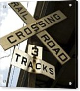 Rail Road Sign Acrylic Print