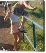 Rail Surfing Acrylic Print