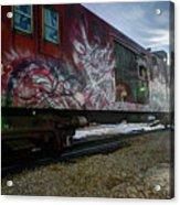 Railcar Graffiti Acrylic Print