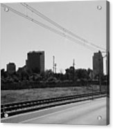 Railroad And The City Acrylic Print