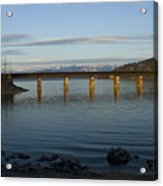 Railroad Bridge Over The Pend Oreille Acrylic Print
