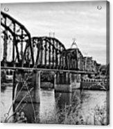 Railroad Bridge -bw Acrylic Print