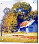 Railroad Crossing Acrylic Print