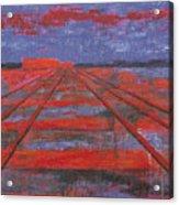 Railroad into the Dusk  Acrylic Print