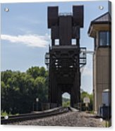 Railroad Lift Bridge 2 C Acrylic Print