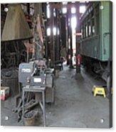 Railroad Shop Acrylic Print