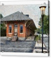 Railroad Station Acrylic Print