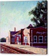 Railroad Station Acrylic Print by Stan Hamilton