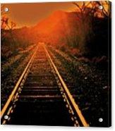 Railroad  Surreal Perspective IIi Acrylic Print