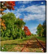 Railroad Tracks At Grand-pre National Historic Site Acrylic Print