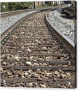 Railroad Tracks Acrylic Print by Danielle Allard