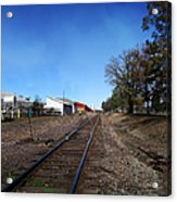 Railroad Tracks Switch Station Acrylic Print