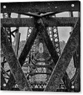 Railroad Trestle Panoramic 2 Acrylic Print