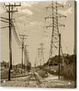 Rails And Wires Acrylic Print