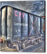 Railway Gunpowder Wagon Acrylic Print by Chris Thaxter