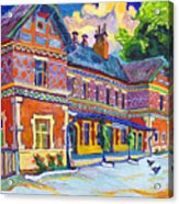 Railway Station In Lednice Acrylic Print