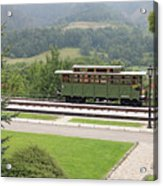 Railway Station On Mountain Vintage Acrylic Print