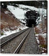 Railway Track Acrylic Print