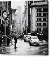 Rain - New York City Acrylic Print