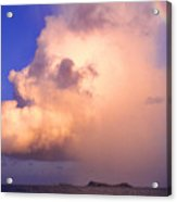 Rain Cloud And Rainbow Acrylic Print by Thomas R Fletcher