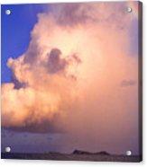 Rain Cloud And Rainbow Acrylic Print