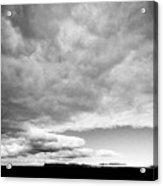Rain Clouds And Weather Front Move Over Ring Road Hringvegur Across The Skeidararsandur Acrylic Print