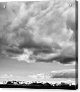 Rain Clouds And Weather Front Move Over Ring Road Hringvegur Across The Skeidararsandur Sand Plain S Acrylic Print