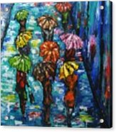 Rain Fantasy Acrylic Painting  Acrylic Print