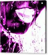 Rain Hot Pink Acrylic Print