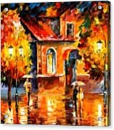 Rain Impression Acrylic Print