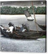 Rain In Bangladesh- An Acrylic Painting Acrylic Print