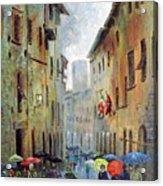 Rain in San Gimignano Acrylic Print