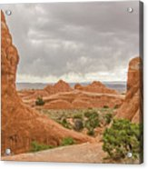 Rain In The Distance At Arches Acrylic Print