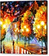 Rain In The Night City Acrylic Print