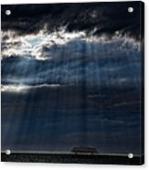 Rain Is Coming To Brighton Acrylic Print