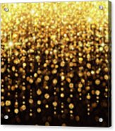 Rain Of Lights Christmas Or Party Background Acrylic Print